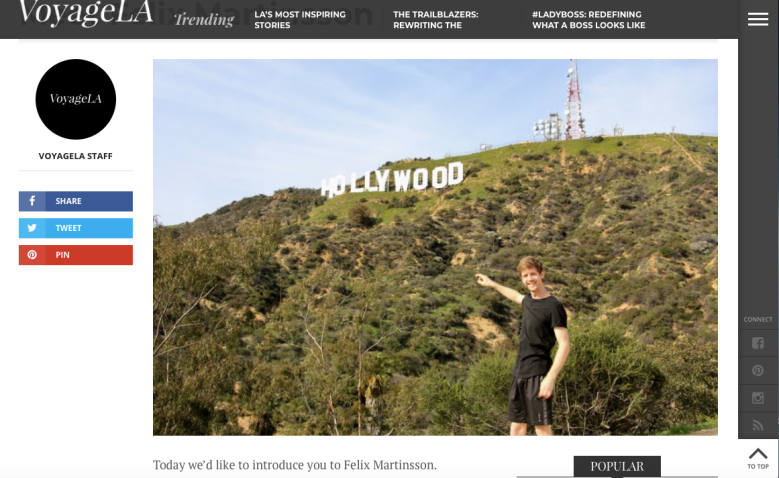 Votage LA - Meet Actor Felix Martinsson