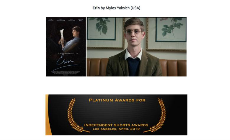IMDb's Independent Shorts Awards 2019